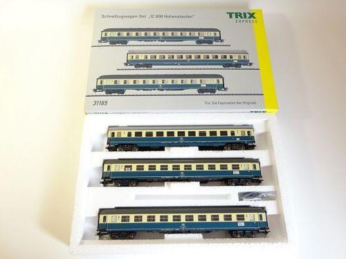 """Trix h0 31165 embalaje original DB schnellzugwagen-set /""""IC 690 Hohenstaufen/"""" nuevo"""