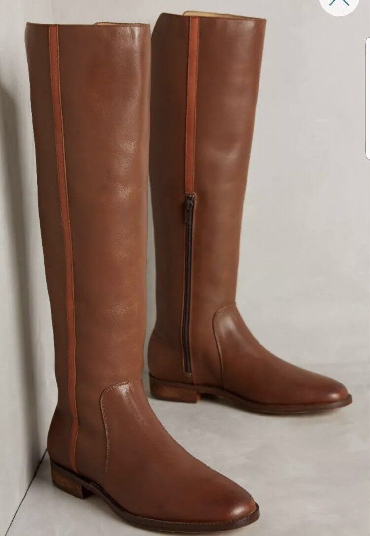 FARYL ROBIN FOR ANTHROPOLOGIE MICHELL BROWN LEATHER RIDING BOOT Size 5.5 298 L8