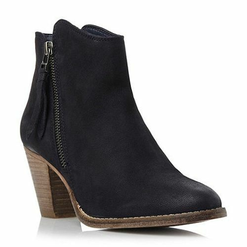 Dune bluee western style leather Ankle Boot rrp  UK 3 EU 36 JS27 01 SALEw