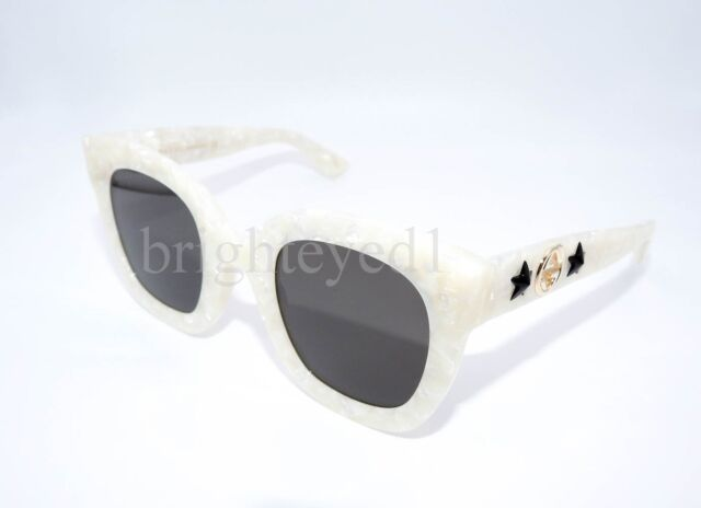 238ea92b362 Authentic Gucci White Ivory Cat Eye Sunglasses Gg0208s - 005 for ...