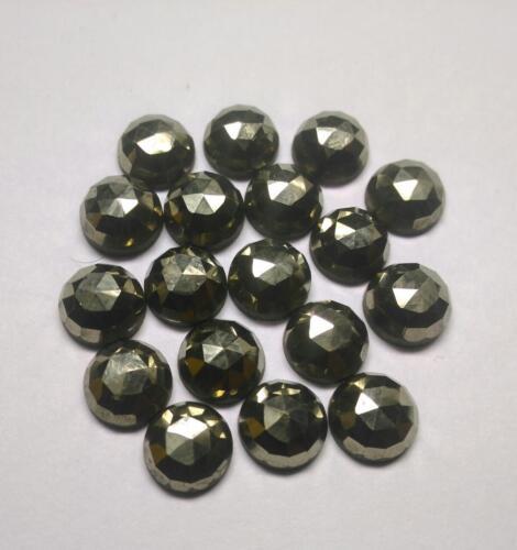 10 pieces 4mm Golden Pyrite Rosecut Round Gemstone Pyrite AAA Quality Gemstone