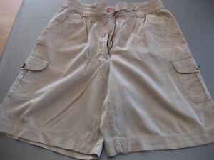 Zu Bermuda 4 Details Taschen Bundfalten Gr40 Bequem Damen Snap Shorts Beige orxedCWB