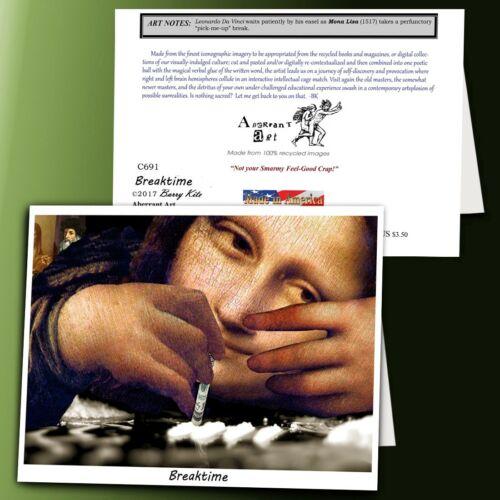 C691 Breaktime; Art History Repurposed Aberrant Art Blank Note Cards