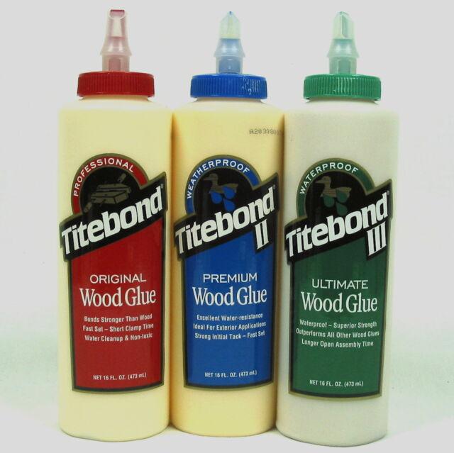 Titebond wood glues 16fl oz 473mls titebond original, titebond ll, Titbond lll