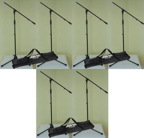 6 x Mikrofon-Stativ ECO mit 3 x Tasche Mikrofon-Ständer mit Schwenkarm ADAM HALL