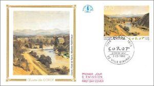 FRANCE-Oeuvre-de-COROT-VILLE-D-039-AVRAY-1996-FDC