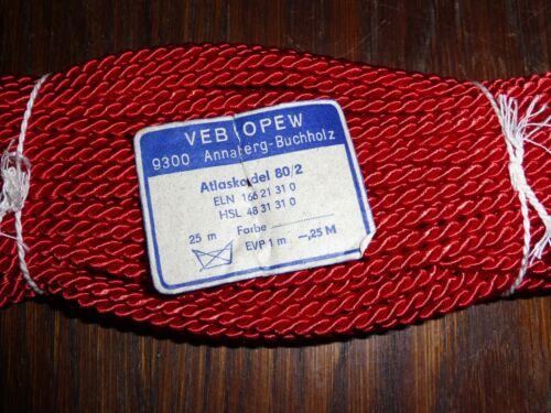 0,40 €//m RDA atlas cordel 80//2 rojo 25m VEB opew cordel