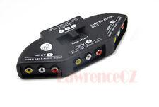New 3 in 1 AV Audio Video Signal Switcher Splitter Selector Out AV RCA Switch SN