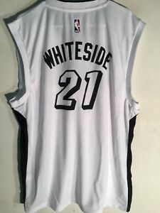 5a9fff4db Image is loading Adidas-NBA-Jersey-Miami-Heat-Hassan-Whiteside-White-