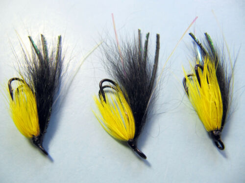 3 X MONKEY FLY SALMON FLIES DOUBLE HOOK 6,8,10,12  available