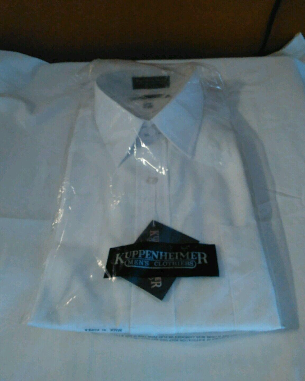 KUPPENHEIMER MEN'S CLOTHIERS White Dress Shirt 16 1 2   32 33
