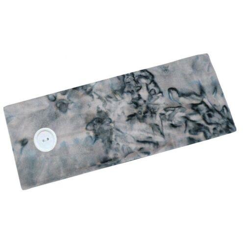 Details about  /Button Headband for Nurses Women Sports Workout Turban Head Wrap Hair Band Yoga