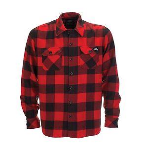 Camicia Holzfeller Scacchi Uomo Sacramento A Camicie Rosso Red Dickies Awd7q4A