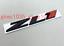 BLACK & Red ZL1 Auto Car Emblem Rear Fender Badge Sticker For Camaro Decal