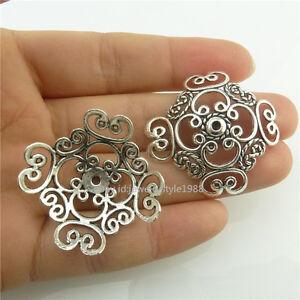 18579-10pcs-Vintage-Antique-Silver-Hollow-Carve-Filigree-Tassel-End-Beads-Cap
