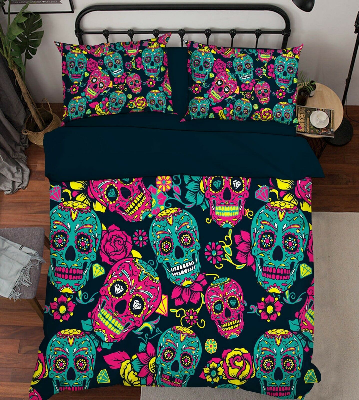 3D Painted Skull 678 Bed Pillowcases Quilt Duvet Cover Set Single Queen AU Carly