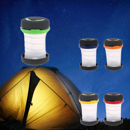 Outdoor Collapsible LED Camping Light Hiking Tent Lantern Flashlight/_fr