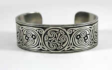 Silver Celtic Hibernia Bracelet --- Medieval/Irish/Cuff/Metal/Jewelry/Knot/Art