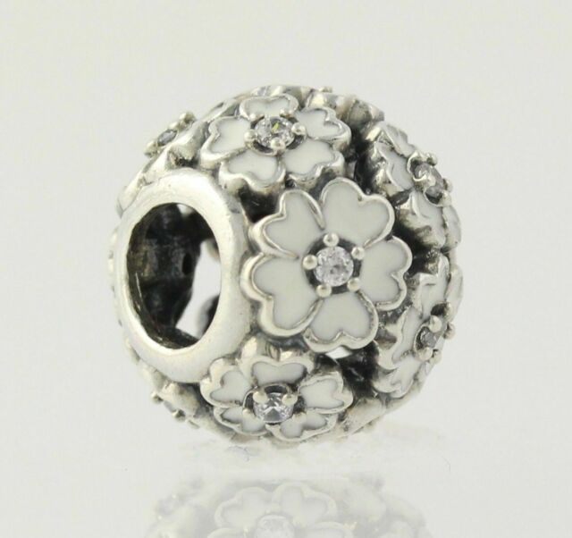NEW Authentic Pandora Primrose Meadow Charm - Sterling Silver White 791488EN12