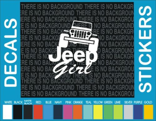 "jeep Girl jeep 4x4 Truck Car off road funny window car truck decal sticker 6/"""