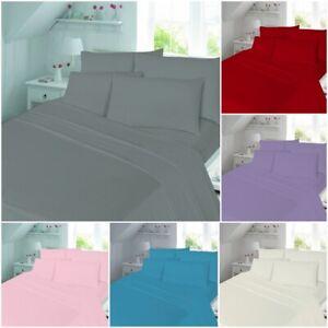 Flanelita-100-Algodon-Cepillado-equipado-bed-sheet-single-pequena-Doble-Super-Rey