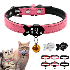 Soft-Suede-Leather-Personalised-Dog-Collar-with-Bell-for-Chihuahua-Yorkshire