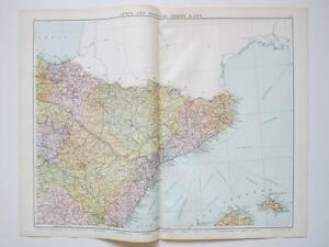 Map Spain Portugal North East Large Colour Map Gross EBay - Portugal map north
