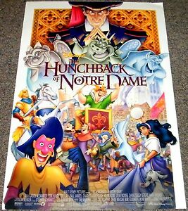Hunchback Of Notre Dame 1996 Orig 18x27 Movie Poster Disney Animated Classic Ebay