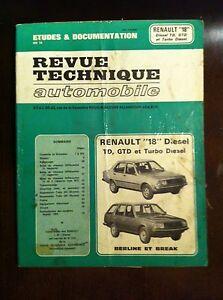RENAULT R18 R 18 TD GTD Turbo Diesel Manuel Revue Technique Automobile RTA - France - État : Occasion: Objet ayant été utilisé. Consulter la description du vendeur pour avoir plus de détails sur les éventuelles imperfections. ... - France