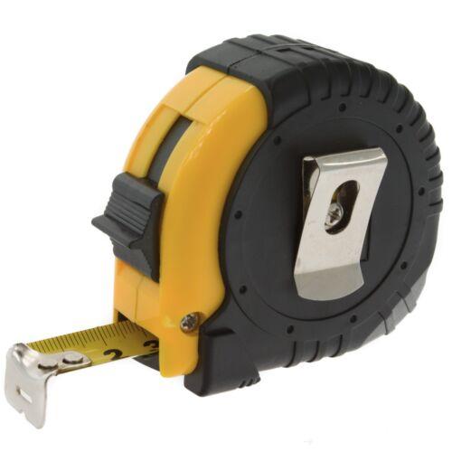 CORAIL DUR Lock bande de poche mesure Rétractable métrique Règle Acier ceinture 5 m long