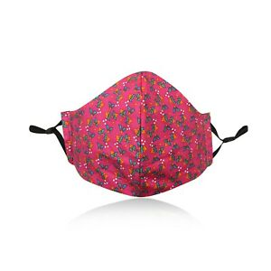 Ladies-Pink-Girls-Cotton-Face-Mask-Washable-Reusable-Adjustable-Double-Layer