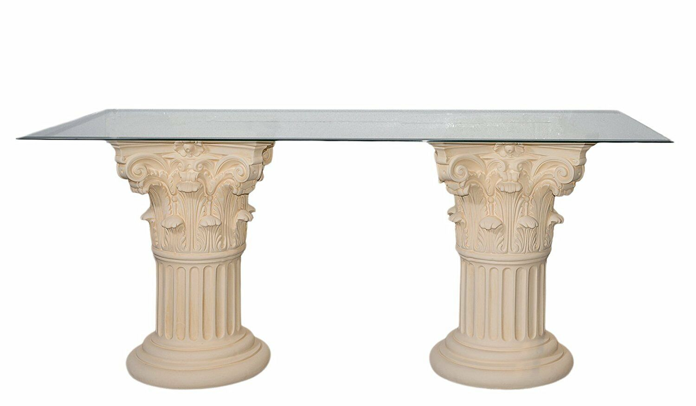 S/äulentisch weiss 110 x 70 cm Esstisch Esszimmertisch Tisch Esszimmer K/üche neu