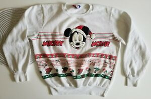 Vtg Womens Mickey Mouse Ugly Christmas Sweater 90s Disney Candy