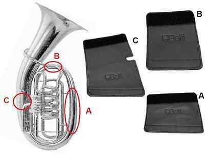 Hochwertiger Handschutz Schoner für Flügelhorn aus Echtleder Schnürverschluss