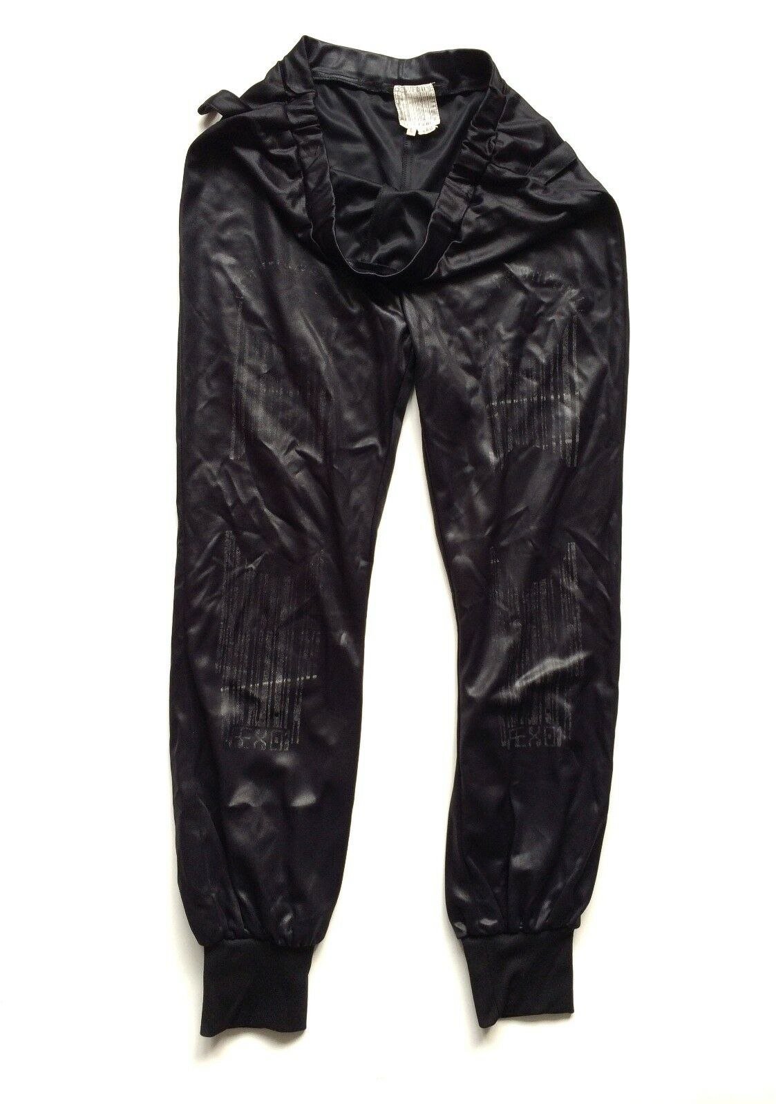 JEAN PAUL GAULTIER souvenir 90s vintage stretch pants jogging Barcode nude  hose