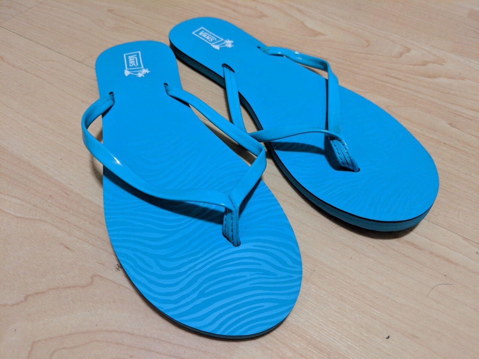 VANS New Del Flip Mar Zebra Lady Size USA 7 Flip Del Flop Sandals e57ad7