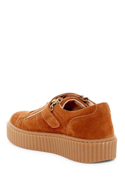 NIB Lace J/Slides Papper Platform Zip Sneaker Suede Leder Damens Lace NIB Up Schuhe US 7.5 eca1ae