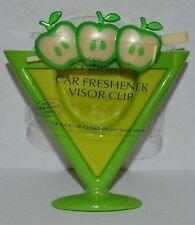 BATH & BODY WORKS GREEN APPLETINI SCENTPORTABLE HOLDER CAR VISOR CLIP FRESHENER