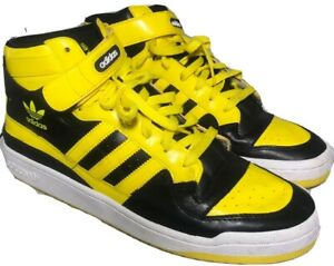 Ultra-Rare-Adidas-Forum-Mid-2009-Men-13-Unofficial-Wu-Tang-Killer-Bee-Yellow-Blk