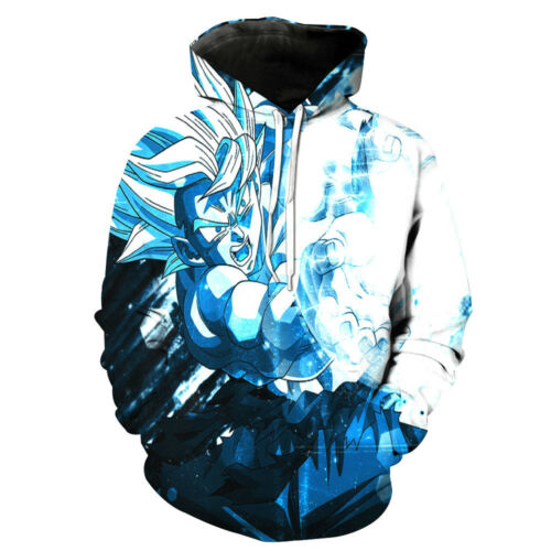Womens//Mens Dragon Ball Z Goku Blue Brightness 3D Print Casual Hoodie Sweatshirt