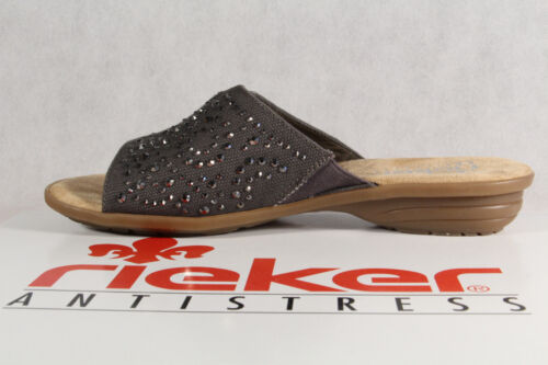 Details about  /Rieker Mules Slippers Grey V3407 New