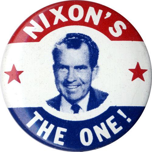 "Richard Nixon Nixon/'s The One President Presidential Campaign 17/"" Pennant RARE"