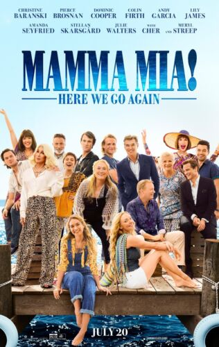 MAMMA MIA HERE WE GO AGAIN POSTER A4 A3 A2 A1 CINEMA FILM MOVIE LARGE FORMAT #2