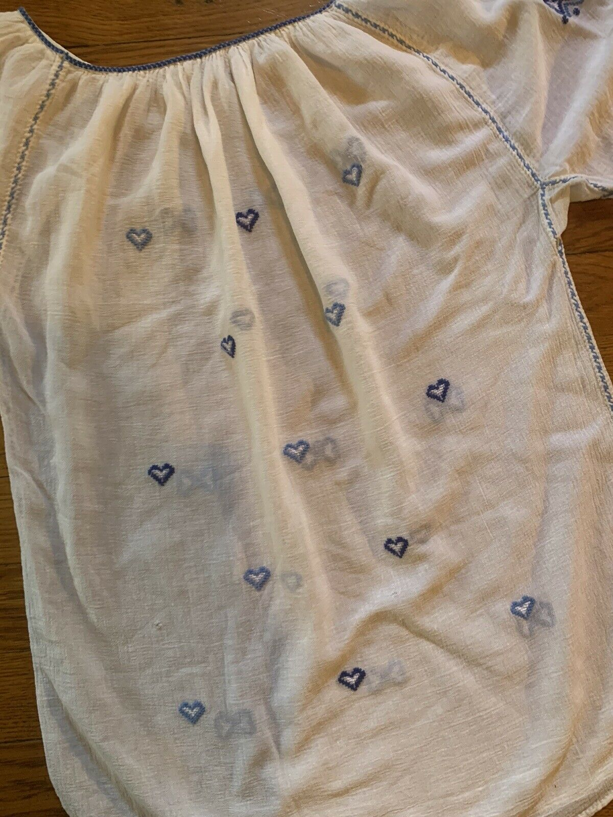 Vintage 1930s 1940s Hungarian Hand Embroidered Pe… - image 2