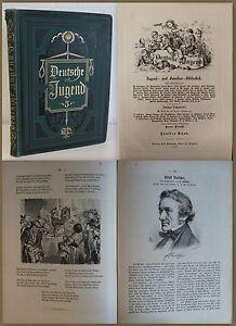 Lohmeyer-Deutsche-Jungend-5-Bd-1875-Jugend-und-Familien-Bibliothek-Holzschnitte