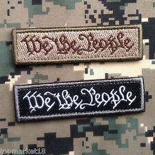 2PCS WE THE PEOPLE TAB USA MILITARY TACTICAL ARMY MORALE SWAT OPS HOOK PATCH