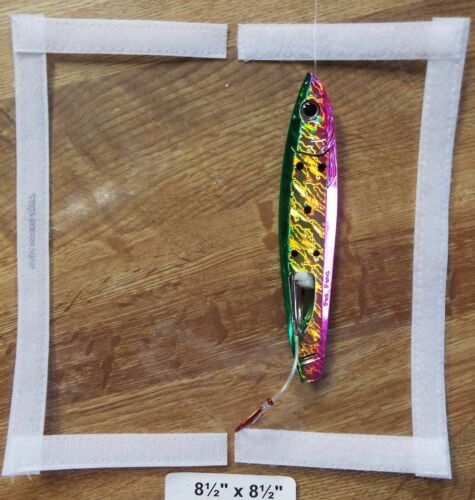 """#15-8.5/""""x 8.5=4x8 usable Large Spinner Bait type tackle cover /&pole wrap CLEAR"""