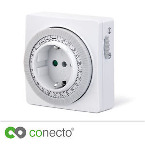 Mechanische-Zeitschaltuhr-3500W-230V-Timer-Schalter-Steckdose-Zeitschaltung-weis