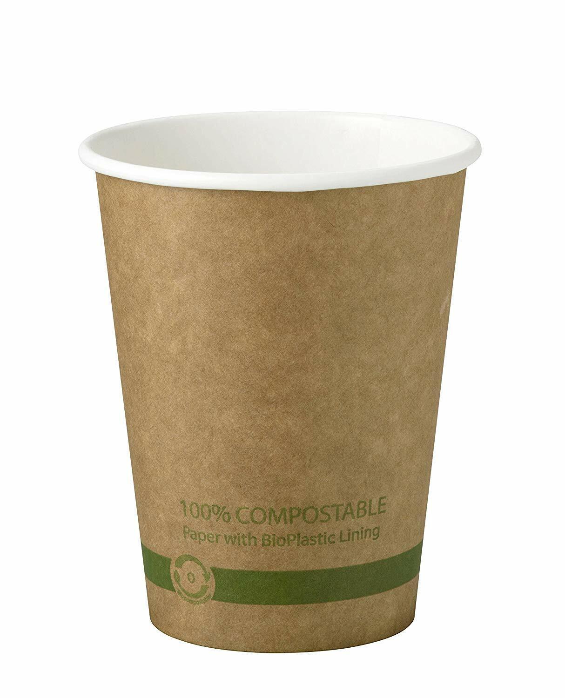 World Centric 100% compostable papier Hot coupes, 12 onces, kraft (lot de 1000)