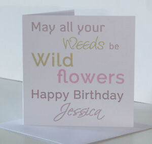 Image Is Loading Personalised Gardener Birthday Card For Her Funny Humour